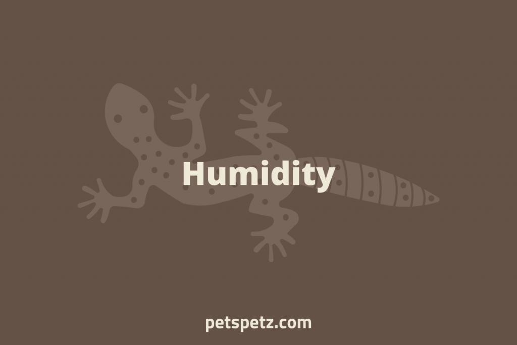 leopard gecko Humidity