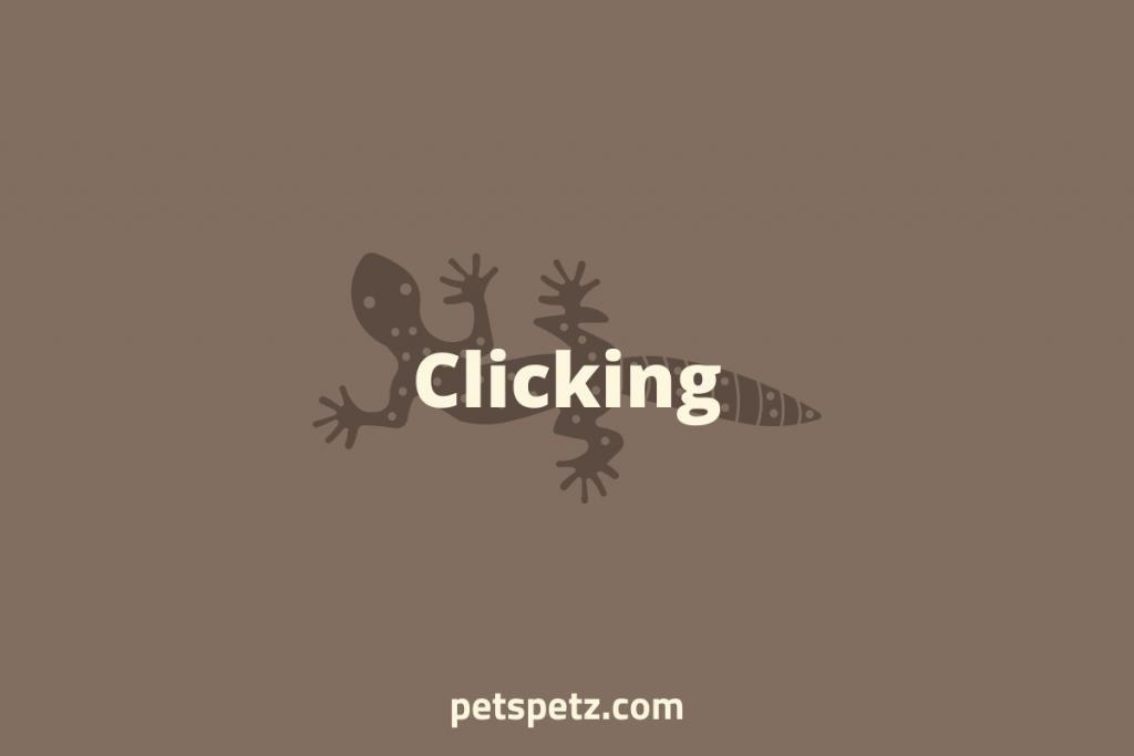 leopard gecko clicking sound