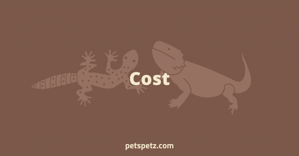 which costs more bearded dragons or leopard geckos