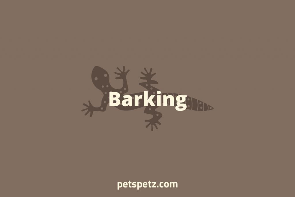 why is my leopard gecko barking